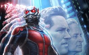 Picture marvel, marvel, Michael Douglas, Michael Douglas, concept poster, Ant-man, Ant-man, Paul Rudd, Paul Rudd