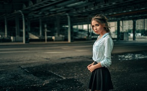 Picture Girl, Look, Model, Hair, Skirt, Beautiful, Kseniya Kokoreva