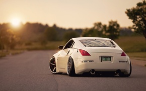 Picture white, nissan, 350z, Nissan