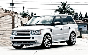 Picture the sky, tuning, Board, jeep, Land Rover, Range Rover, tuning, the front, range Rover, land ...