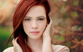 Picture portrait, redhead, Мirella