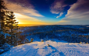 Picture winter, Norway, Sunny day