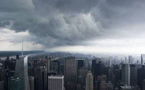 Picture New York, USA, New York, Manhattan, NYC, usa, Storm Clouds