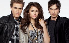 Picture people, ring, pierce, vampire, Floor, actors, brothers, the, Nina, photoshoot, Elena, Elena, Stefan, vampire, vampire, ...
