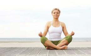 Picture girl, mood, Sport, meditation, yoga