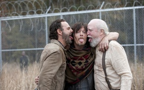 Picture mood, languages, The Walking Dead, The walking dead, Andrew Lincoln, Norman Reedus, Scott Wilson