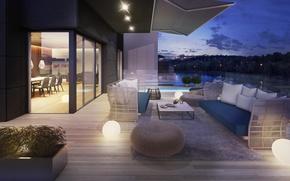 Picture Villa, the evening, pool, terrace, Suite