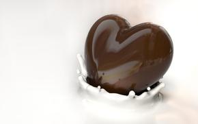 Picture chocolate, splash, milk