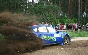 Picture subaru, impreza, wrc, 2009, rally of Poland