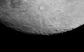 Wallpaper the moon, satellite, Saturn