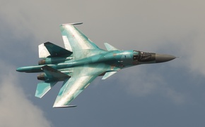 Picture the sky, flight, fighter, bomber, Su-34