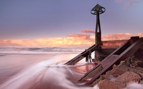 Picture sea, landscape, sunset, Marina