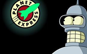Picture Futurama, Planet, Bender, Express