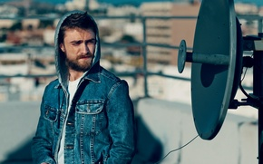 Picture Norman Jean Roy, Vogue, beard, hood, jacket, actor, dzhinsovka, roof, bokeh, Daniel Radcliffe, Daniel Radcliffe, ...