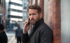 Picture fiction, frame, jacket, phone, Ryan Reynolds, Ryan Reynolds, Thriller, cell, Criminal, Criminal