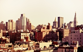 Picture USA, United States, skyline, New York, Manhattan, NYC, New York City, buildings, architecture, Midtown Manhattan, ...