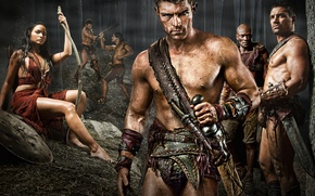 Wallpaper Gladiator, SWORD, warrior, Spartacus, spartacus, sand and blood
