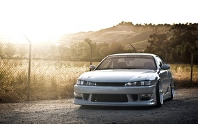 Picture car, auto, the sun, Wallpaper, nissan, silver, silver, drift, drift, car, 2012, japan, Nissan, photo, …