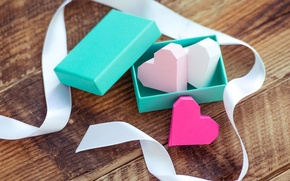 Picture love, paper, background, box, gift, widescreen, Wallpaper, mood, heart, tape, hearts, wallpaper, love, heart, widescreen, ...