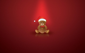 Picture new year, minimalism, art, bear