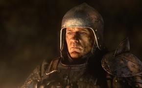 Picture warrior, helmet, deep down