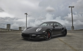 Wallpaper the sky, clouds, black, 997, lights, porsche, carerra, blacjkparking/порше, carrera