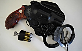 Picture weapons, cartridges, revolver, holster, Colt