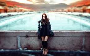 Picture cold, girl, the city, treatment, Moscow, skirt, Ivan Gorokhov