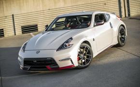 Picture White, Wheel, Machine, Nissan, Drives, 370Z, Wallpaper, Nismo