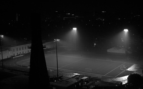 Picture night, tower, lighting, lights, Noir, stadium, black