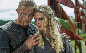 Wallpaper Vikings, The Vikings, Gaia Weiss, Jaya Weiss, Porunn, Alexander Ludwig, Bjorn