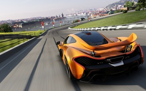 Picture road, machine, race, speed, track, mclaren p1, Forza motorsport 5