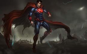 Picture costume, armor, superman, art, DC Comics, Clark Kent, Man of Steel, Kal-El, kryptonian