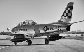 Wallpaper fighter, jet, Sabre, F-86