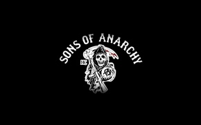 Wallpaper death, weapons, logo, braid, the series, sons of anarchy