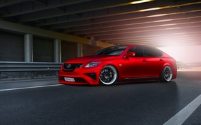 Picture Lexus, Red, Car, Front, Sun, Matte, Tuning, Sport, GS300, Metallic