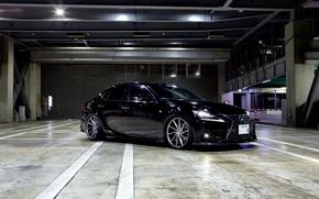 Picture Lexus, wheels, black, vossen, frontside, is350