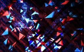 Picture light, pattern, color, figure, triangle, layer