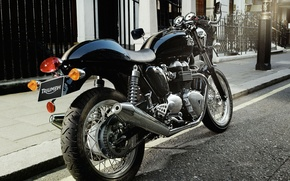 Picture Triumph, cafe racer, Triumph Thruxton, cafe racer