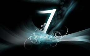 Picture black, Windows 7, turquoise, steel