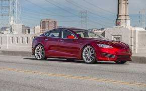 Picture red, Tesla, Tuning, Model S