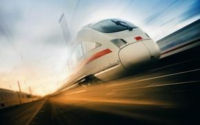 Picture road, train, speed, beauty, locomotive