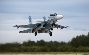 Wallpaper the plane, Su-30SM, army