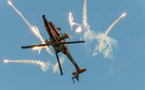 Picture flight, helicopter, combat, AH-64 Apache, main