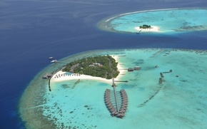Picture island, the Maldives, Seychelles