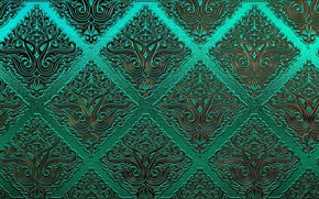 Picture green, patterns, texture, ornament