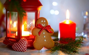 Picture holiday, heart, candles, cookies, Christmas, lantern, New year, Happy New Year, heart, Merry Christmas, holiday, …