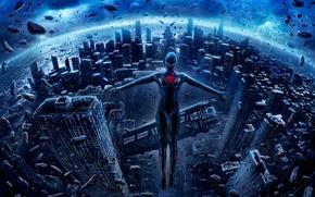 Picture the city, fiction, skyscrapers, romantically apocalyptic, alexiuss, apocalypse