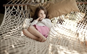 Picture summer, children, mood, stay, mood, girls, tenderness, relax, hammock, girl, child, girls, beaches, ease, baby, ...