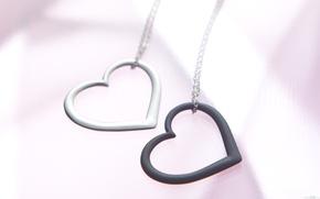 Wallpaper form, macro, heart, mood, grey, heart